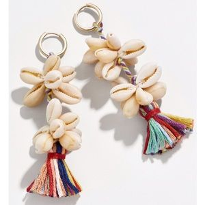 NWT Anthro BaubleBar Shell Multi-Tassels  Earrings